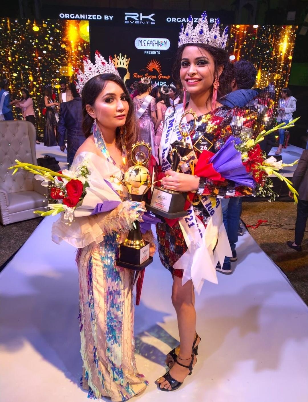 Rashika-Mudgal-has-achieved the-title-of-Miss-India-Glam-2020-and-Sneha-Rathore-won-Mrs-India-Glam-2021