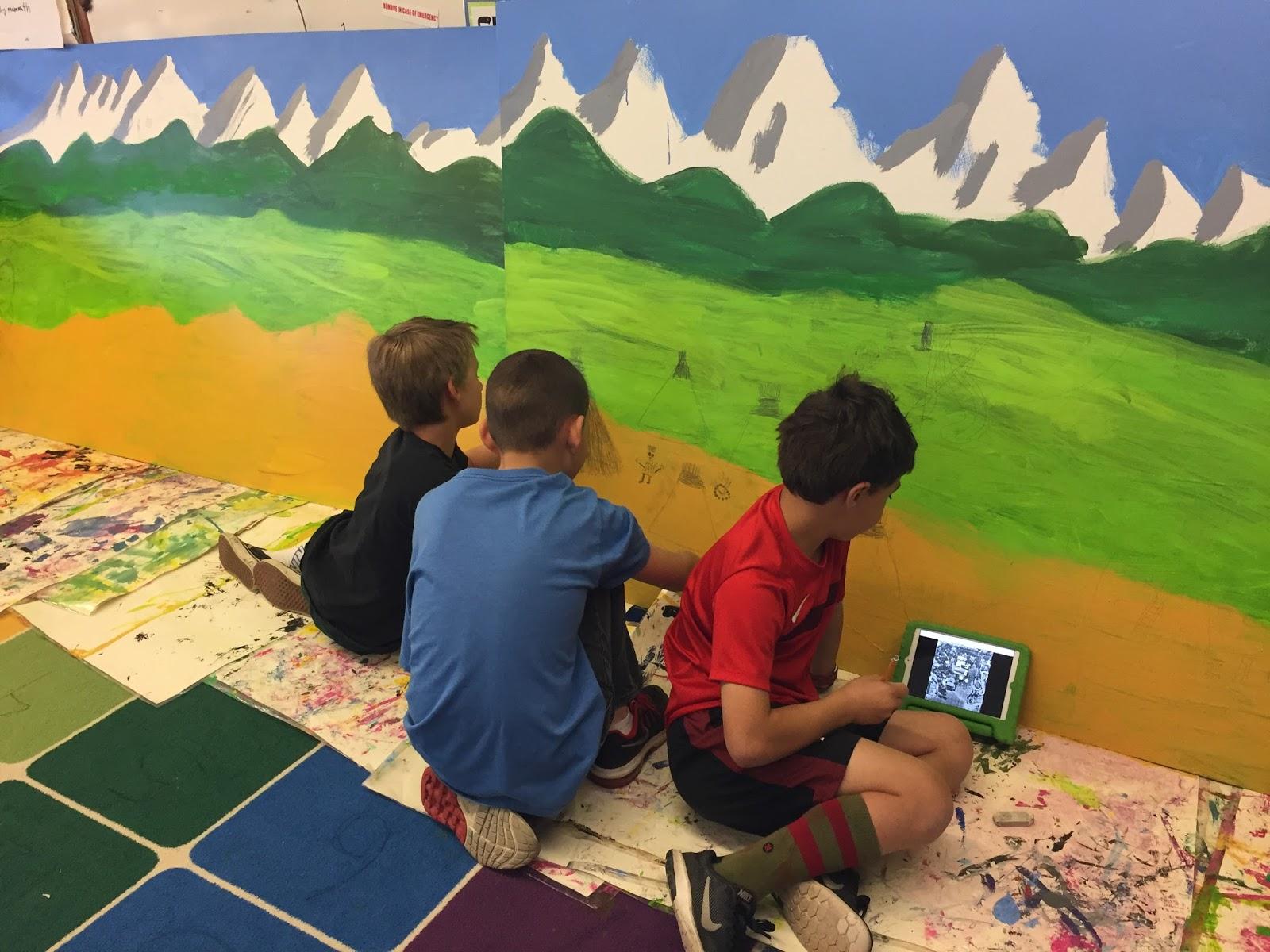 Small Batch Art 4th Grade Colorado History Mural Underway