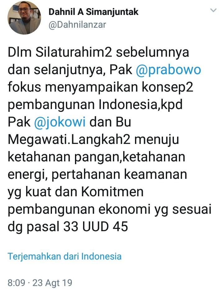 Prabowo Sampaikan Ide ke Jokowi dan Mega, Ini Pertanyaan Kritis Netizen
