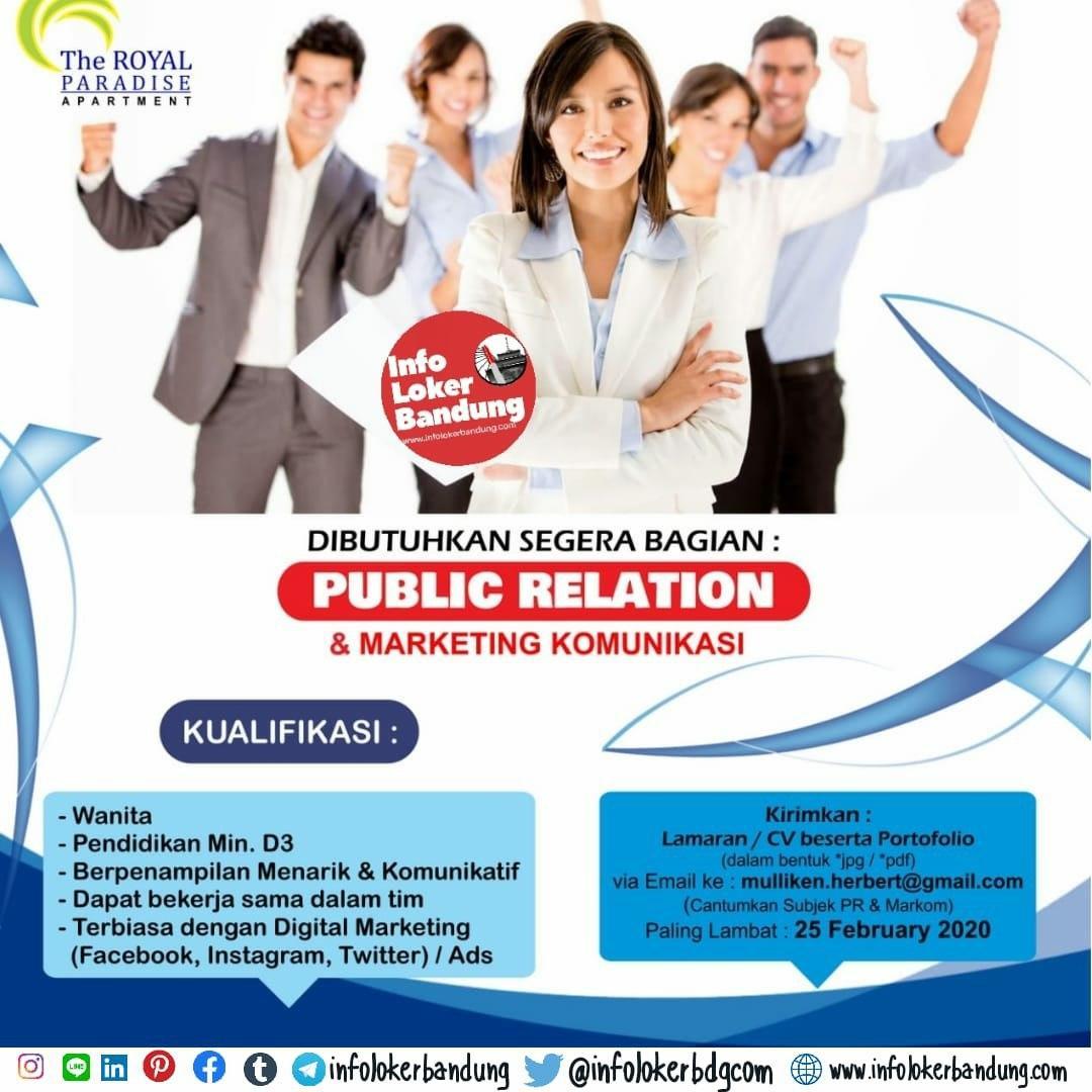 Lowongan Kerja The Royal Paradise Apartemen Bandung Februari 2020
