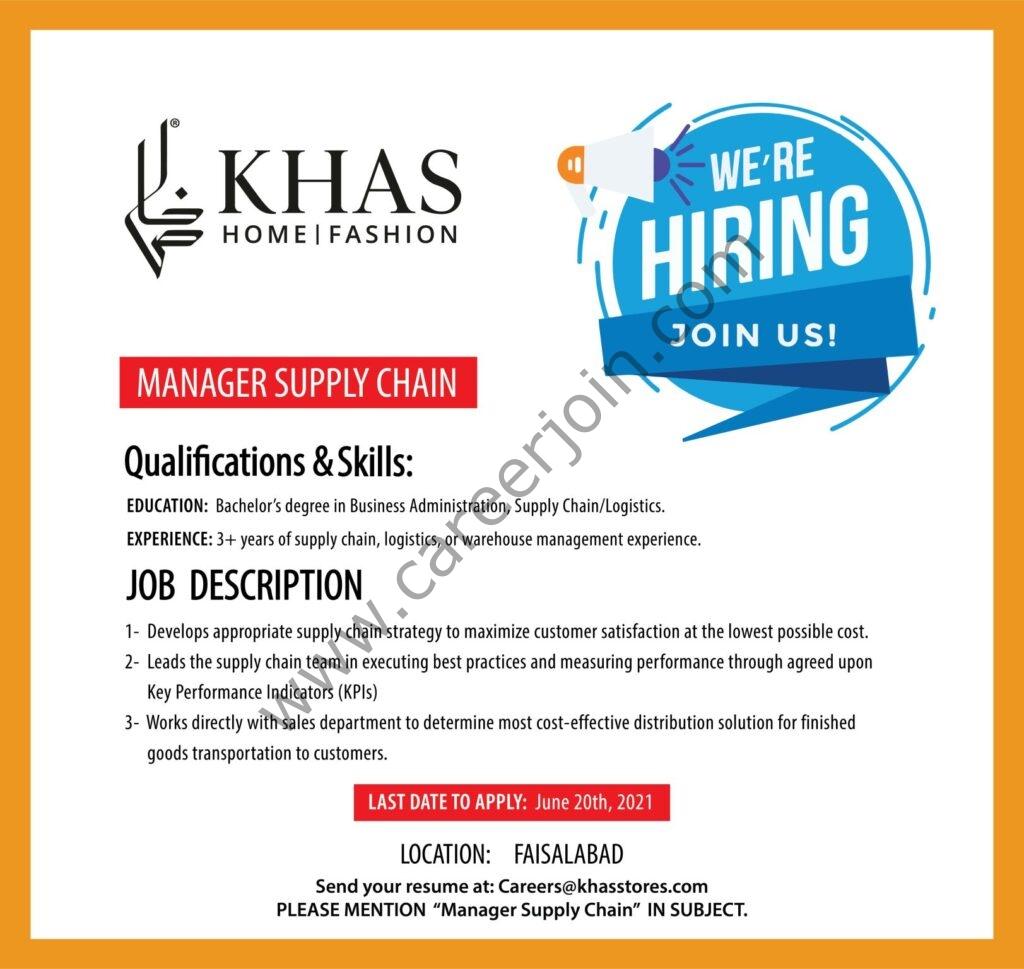 Khas Stores Jobs 2021 in Pakistan