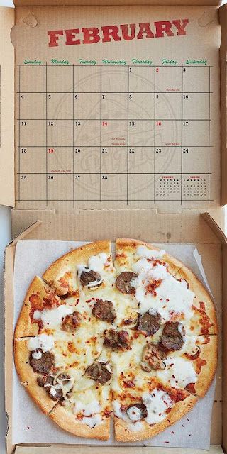 2018 Pizza Wall Calendar