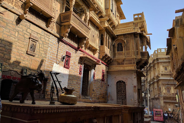 Medieval style heritage streets of Jaisalmer