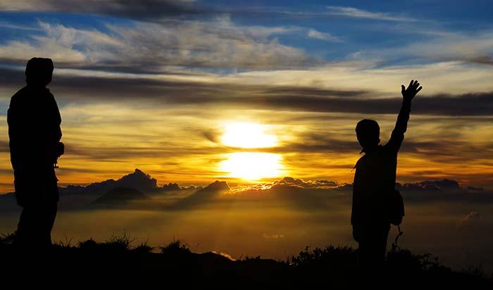 Sunset di Puncak Merbabu