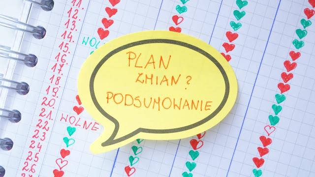 Plan zmian - podsumowanie po 4 tygodniach
