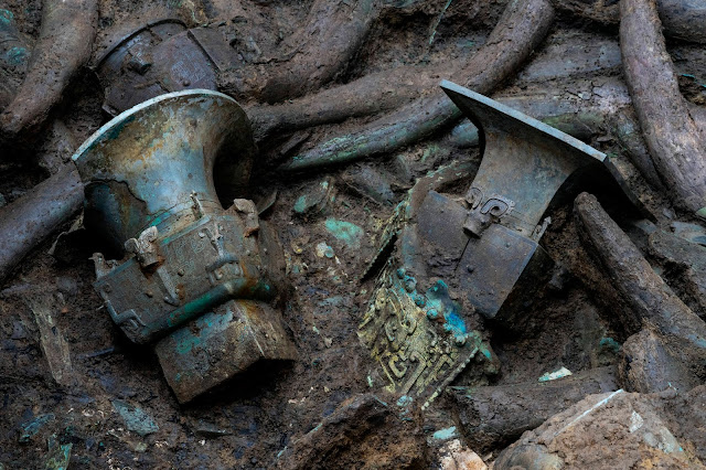 3,000-year-old gold mask discovered at China's legendary Sanxingdui Ruins
