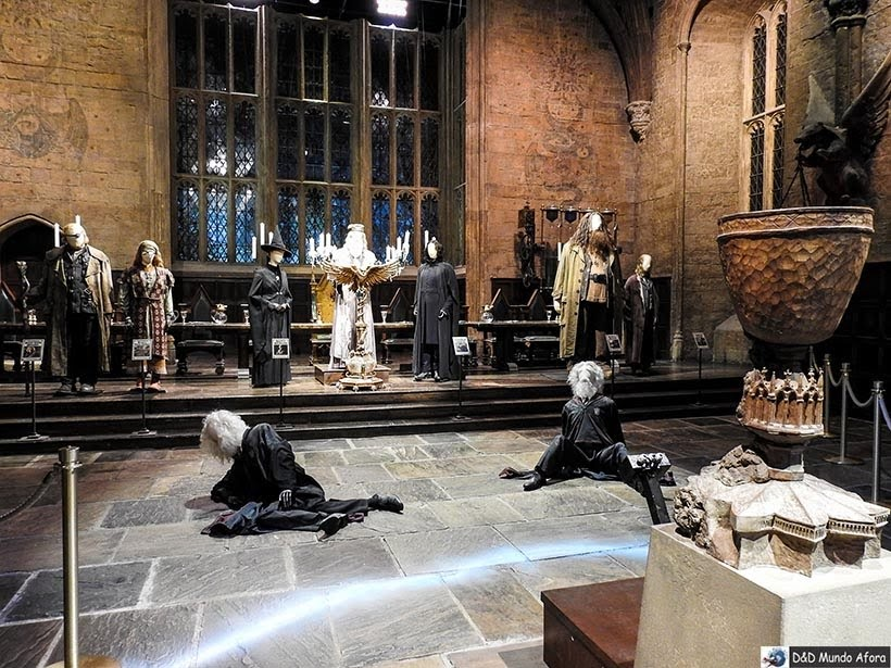 Cálice de fogo no castelo de Hogwart: Harry Potter em Londres: tour no estúdio Warner Bros