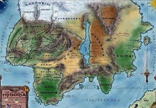 Hyboria térképe