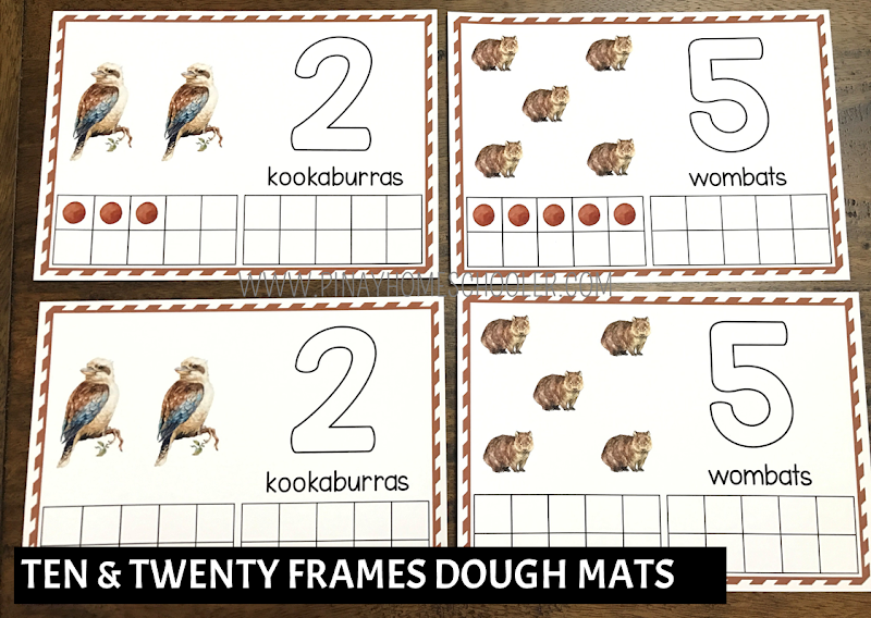 Oceania Australia Themed Math - Ten and Twenty Frames