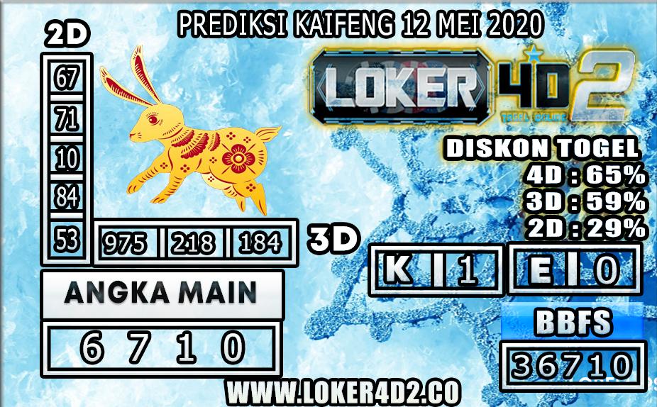 PREDIKSI TOGEL KAIFENG LOKER4D2 12 MEI 2020