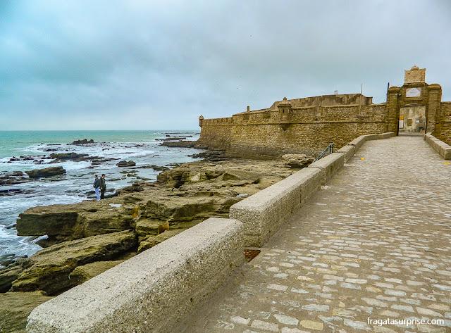 Fortaleza de San Sebastián, nas Muralhas de Cádiz, Andaluzia