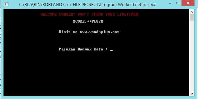 Gambar Output Awal Program