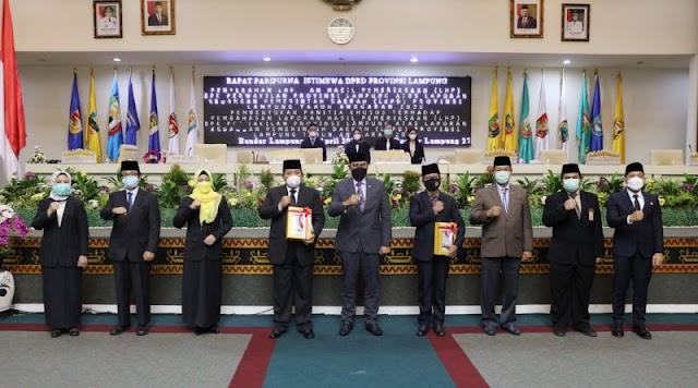 DPRD Lampung gelar Paripurna Istimewa Penyerahan Laporan Hasil Pemeriksaan BPK