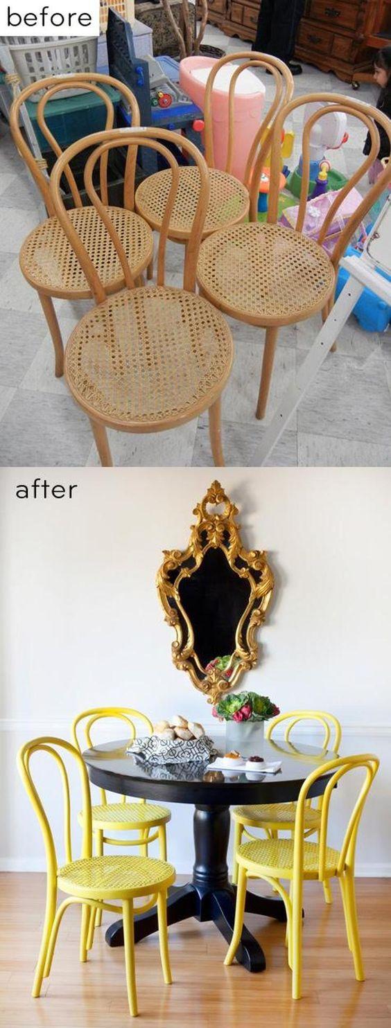 renovar-reformar mesa-cadeira com tinta pintura