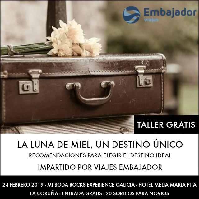 viajes embajador taller mi boda rocks experience galicia 2019