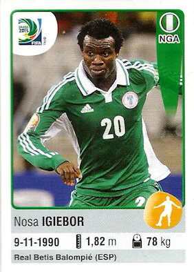 Panini 214 215 216 /& 217 Team Nigeria Confed Cup 2013 Brasilien