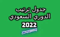 جدول ترتيب الدوري السعودي 2022