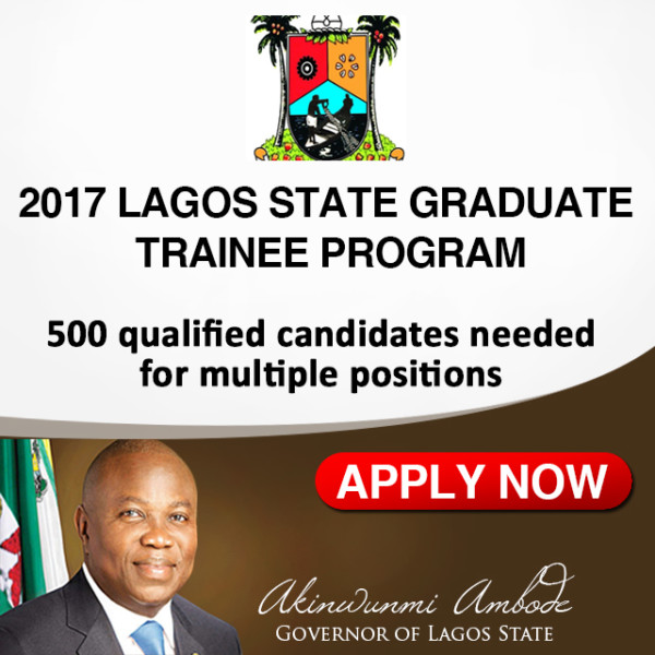 Apply for the 2017 Lagos State Graduate Trainee Program Now – See Details & Requirements of the Program