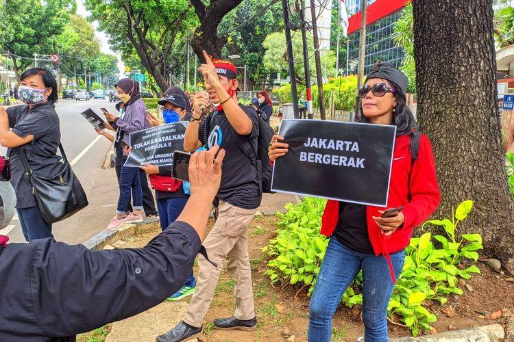 Sebut Peserta Demo Formula E di KPK Plonga-Plongo, Aktivis Jakarta: Mereka Dibayar Rp100 Ribu