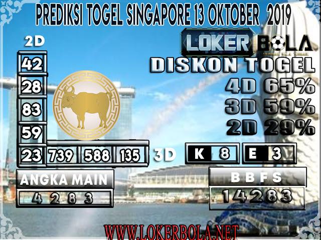 PREDIKSI TOGEL SINGAPORE LOKERBOLA  13 OKTOBER 2019