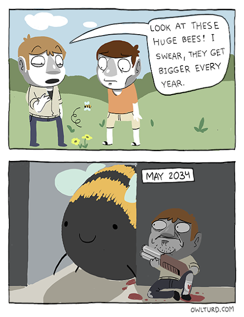Comic about gigantic bees
