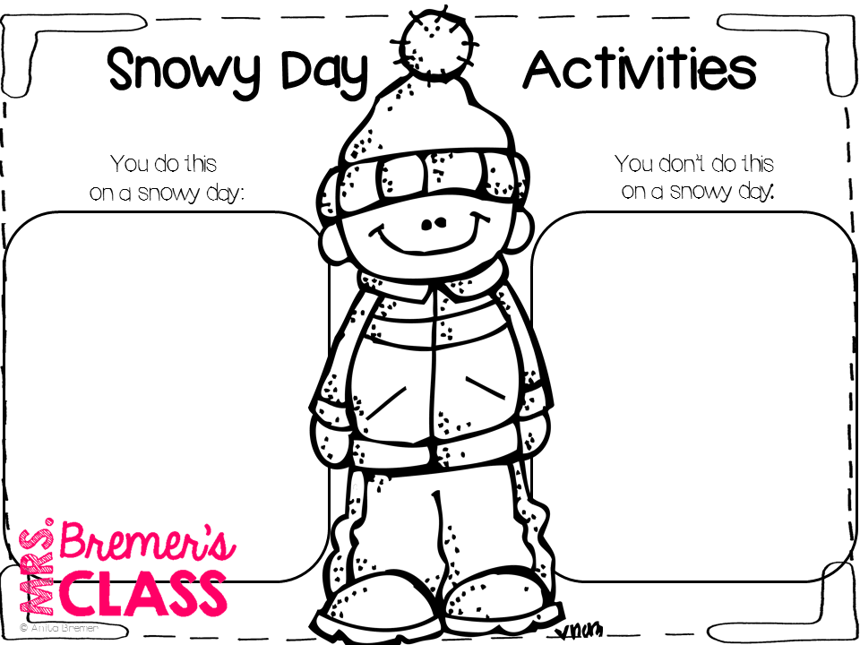 Mrs. Bremer's Class: The Snowy Day {FREE mini book study}