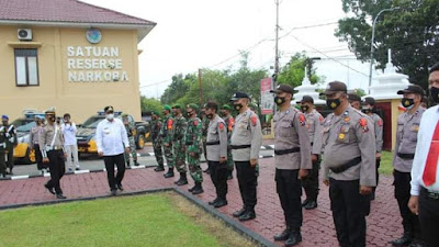Pj Bupati Labuhanbatu Pimpin Apel Gelar Pasukan Operasi Ketupat Toba 2021