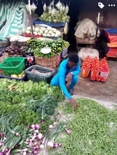 Tailor reveals how lockdown forced him to selling pepper and tomatoes to survive (Photos)