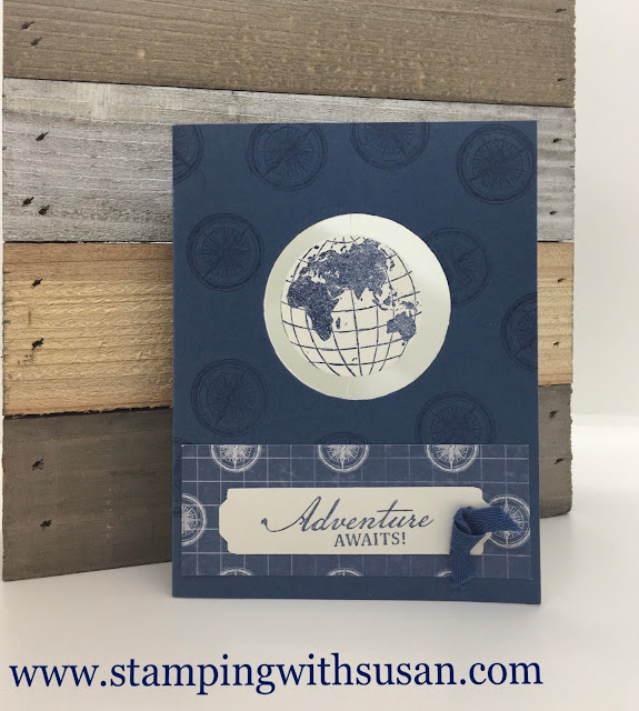 Stampin' Up!, World of Goods, Spinner Card, www.stampingwithsusan.com, Techniques,