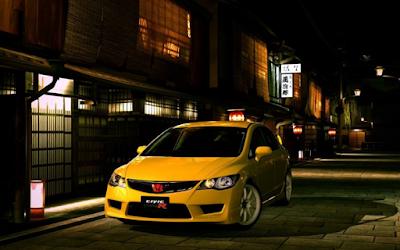 foto mobil modifikasi honda civic terbaru