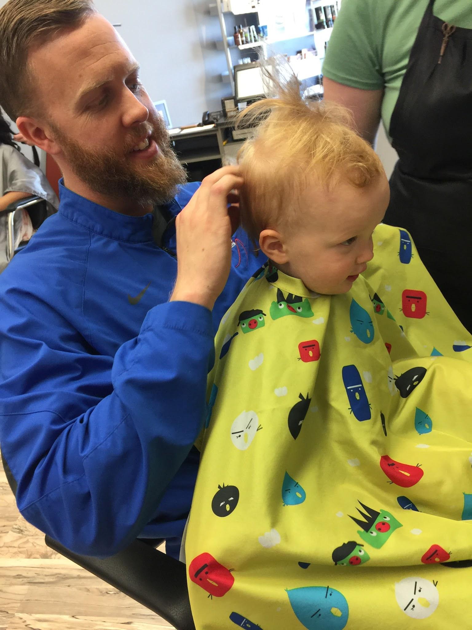 Harrison's First Hair Cut