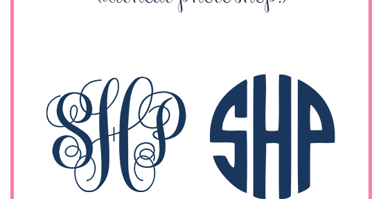 how to make your own monogram  without photoshop