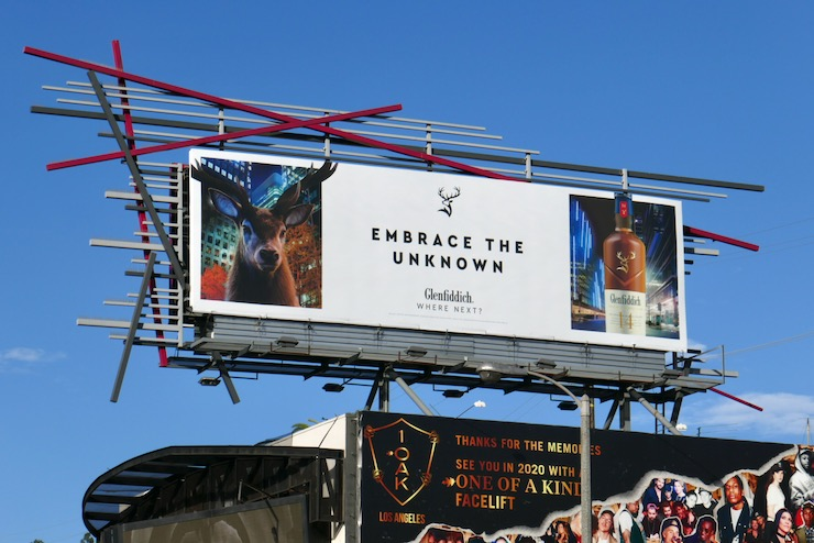 Embrace the unknown Glenfiddich Whisky billboard