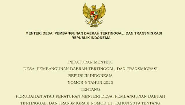 PERMENDESA Nomor 6 Tahun 2020