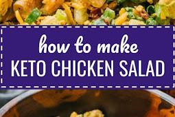 Keto Chicken Salad With Bacon, Avocado, & Caesar Dressing