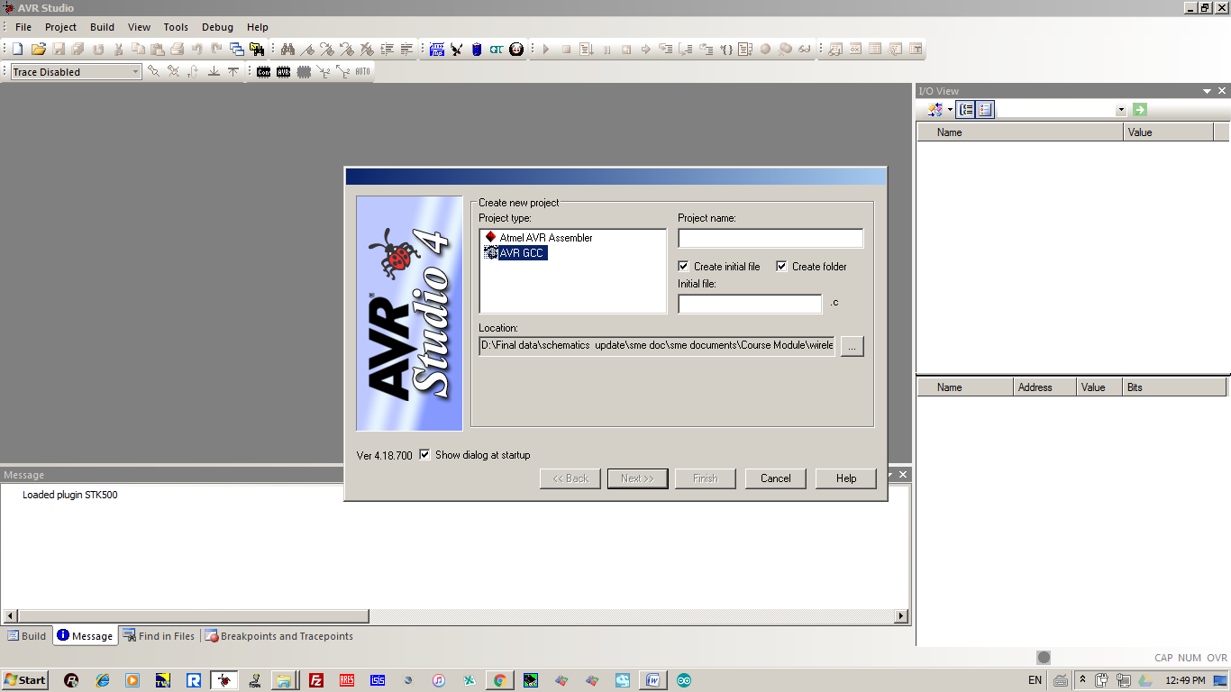 How to start with ATmel AVR Studio 4- step by step