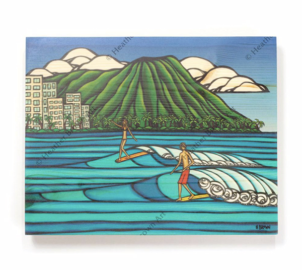 heather brown modern Waikiki hawaii surfing art surfers