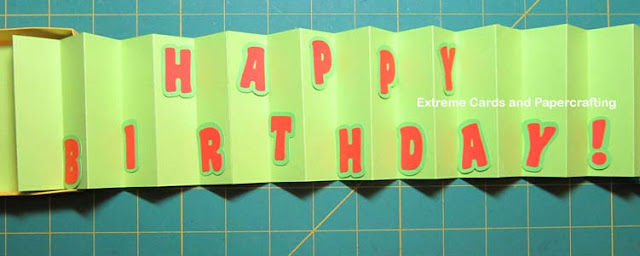accordion fold card in a box, adding letters