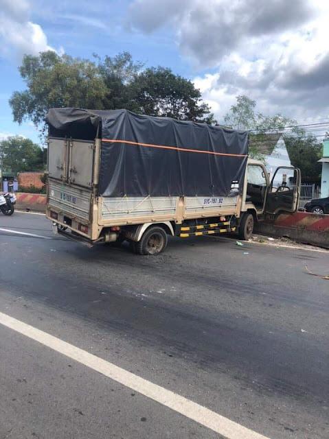 Biến căng đét: CSGT tỉnh Bình Phước phối hợp với CA huyện Đồng Phú và CA huyện Phú Giáo-Bình Dương đuổi theo và khống chế đối tượng cướp xe tải.
