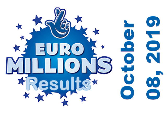 EuroMillions Results for Tuesday, October 08, 2019