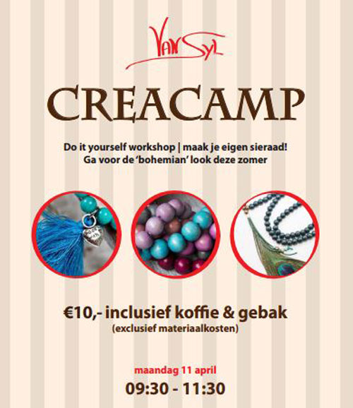 flyer creacamp maandag 11 april 2016