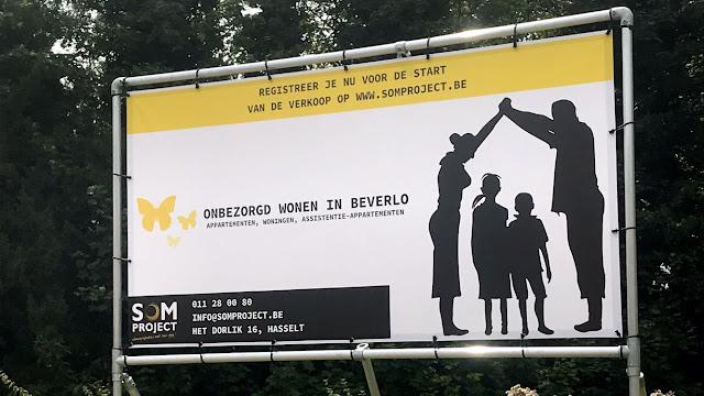 Alu spandoek frame in Beverlo