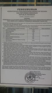 Penerimaan Calon Siswa-Siswi / Taruna-Taruni Pada Kementerian / Lembaga Yang Mempunyai Lembaga Pendidikan Kedinasan Tahun 2018