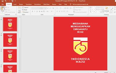 Templates Ucapan DIRGAHAYU RI Ke 75 PowerPoint