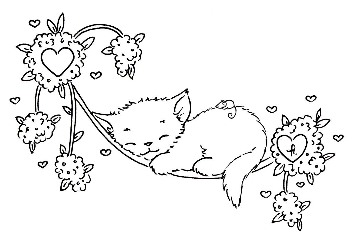 Sliekje digi Stamps: Sleeping kitten