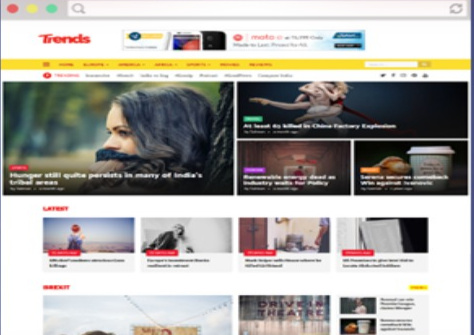 New Trends Magazine Blogger Template Download