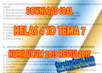 Soal Kelas 4 Tema 7 Kurikulum 2013 Revisi 2017 Pilihan Ganda, Isian, dan Essay