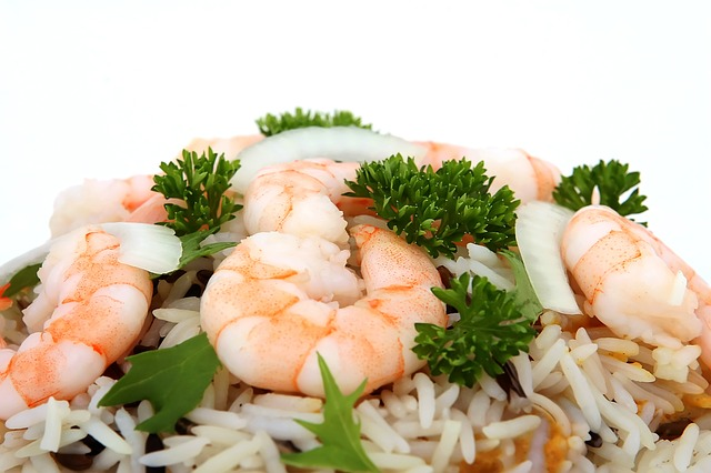 herbs shrimp and rice