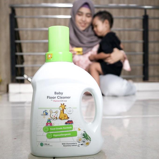 Maksimalkan Floor Time Bersama Anak dengan Pembersih Lantai Aman dari Mama's Choice