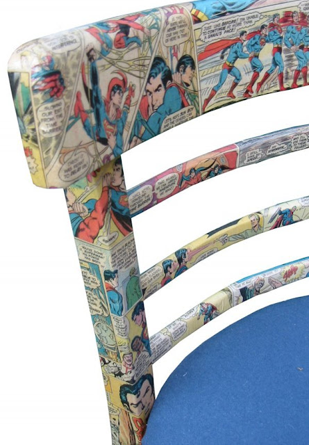Decoupage comic book chair